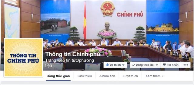 Thông tin Chính phủ - Cổng thông tin điện tử của Chính phủ trên mạng xã hội Facebook