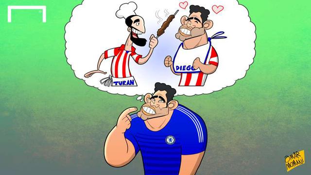 Diego Costa từng chia sẻ rằng Arda Turan thường xuyên mời các đồng đội về nhà ăn đồ ăn do cầu thủ này đứng bếp. Bên cạnh đó, ngôi sao của Chelsea cũng chia sẻ rất nghiện món Kebab của Arda Turan.