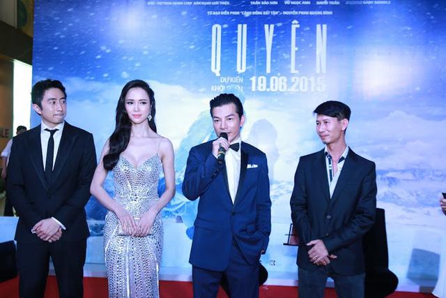 Diễn viên David Trần, Vũ Ngọc Anh, Trần Bảo Sơn và đạo diễn Nguyễn Phan Quang Bình (từ trái sang)