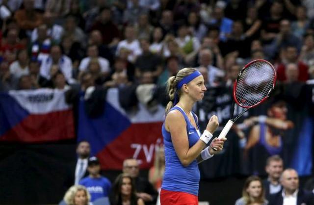 Petra Kvitova ăn mừng chiến thắng