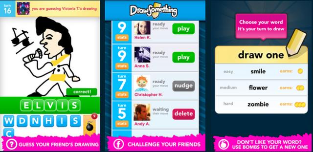 Người dùng chọn một từ, vẽ mô tả từ đó rồi gửi cho bạn bè cùng đoán