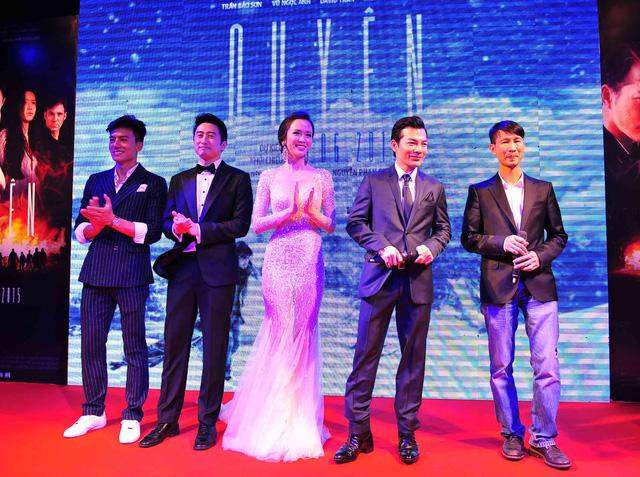 Đoàn làm phim Quyên ra mắt khán giả trong lễ công chiếu ở TP HCM