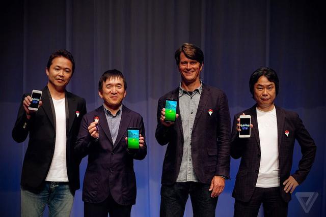 Junichi Masuda đến từ Game Freak, Tsunekazu Ishihara của The Pokémon Company, John Hanke của Niantic và Shigeru Miyamoto của Nintendo