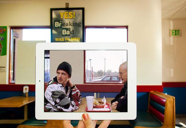 Một quán cafe ở thành phố Albuquerque tại New Mexico cũng từng là nơi quay phim Breaking Bad.