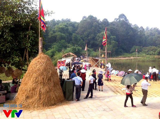 Góc Chợ quê tái hiện những nét văn hóa đặc trưng của nền văn minh lúa nước vùng đồng bằng Bắc bộ