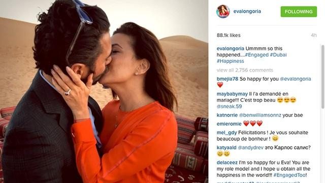 Tin vui được Eva Longoria chia sẻ trên trang Twitter cá nhân.