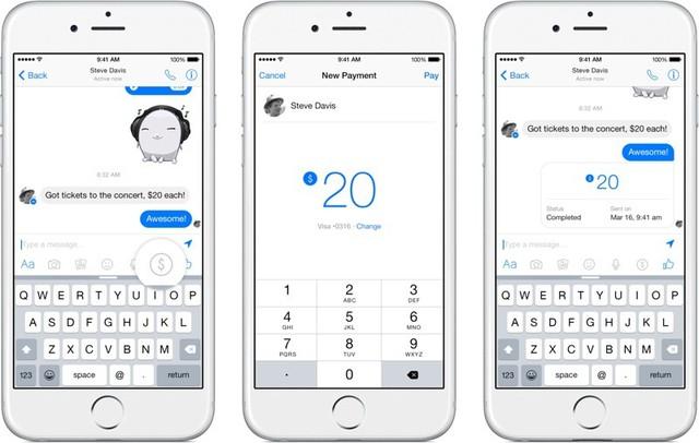Các bước sử dụng tính năng chuyển tiền trên Messenger