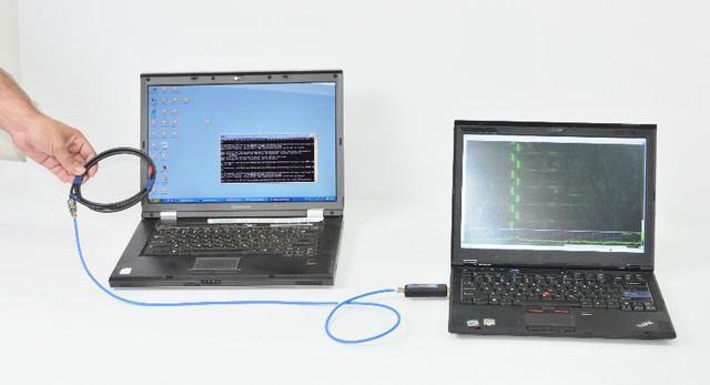 Bằng cách quan sát sự thay đổi của các tín hiệu thu được từ thiết bị, các chuyên gia đã giải mã được mật khẩu trên chiếc laptop