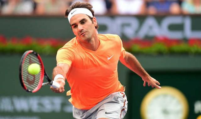 Federer ngậm ngùi với ngôi Á quân ở Indian Wells.