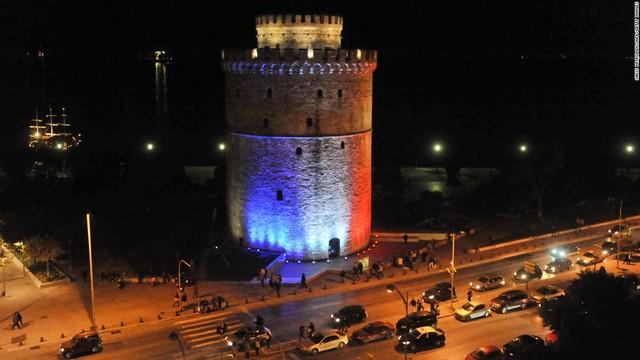 White Tower - biểu tượng của thành phố Thessaloniki ở Hy Lạp