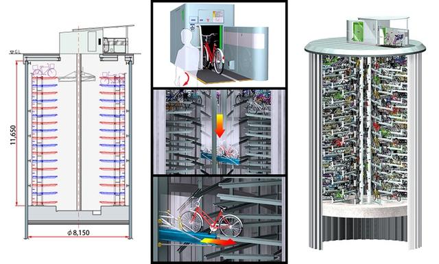 Cấu trúc bãi đỗ xe đạp ngầm Eco Cycle