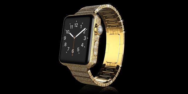 Gold Apple Watch Diamond Ecstasy chất liệu vàng có giá 110.000 Bảng Anh