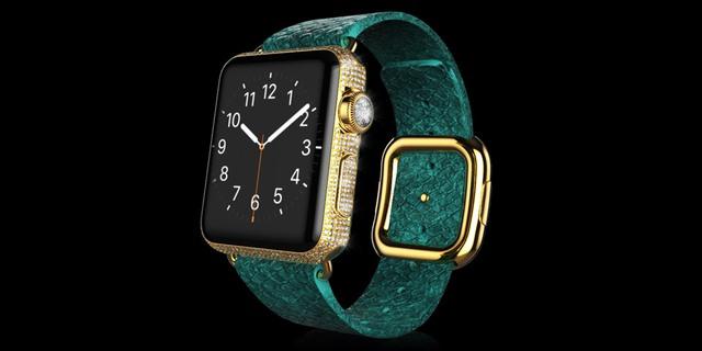 Gold Apple Watch Brilliance Exotic dây da trăn có giá 2.897 Bảng Anh