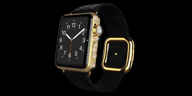 Gold Apple Watch Diamond Ecstasy Exotic dây da trăn có giá 37.997 Bảng Anh