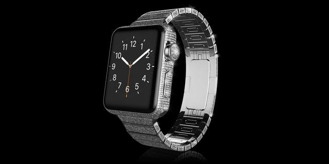 Gold Apple Watch Brilliance chất liệu Platinum có giá 3.897 Bảng Anh