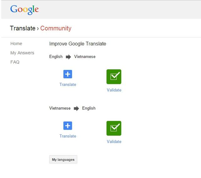 Chọn lựa giữa Translate và Validate