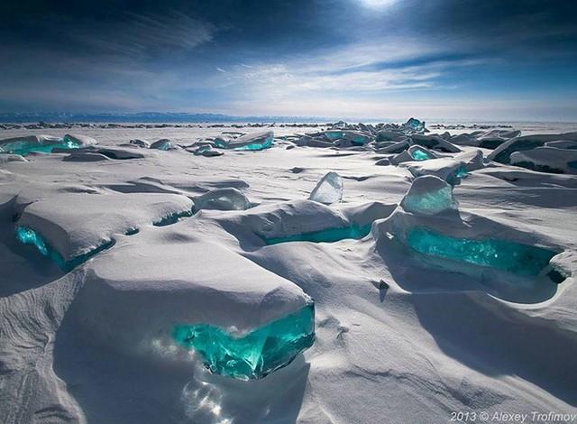 Một góc nhìn khác của hồ Baikal, Siberia