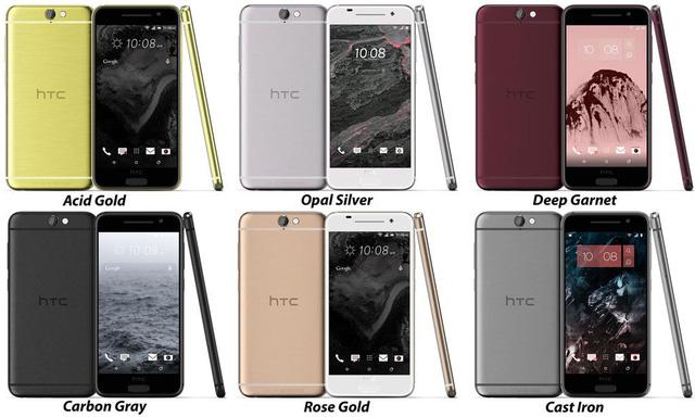 HTC One A9 sẽ có 6 phiên bản màu sắc khác nhau