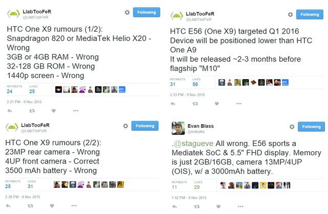 @LlabTooFeR phủ nhận hầu hết các tin đồn về cấu hình của HTC One M10