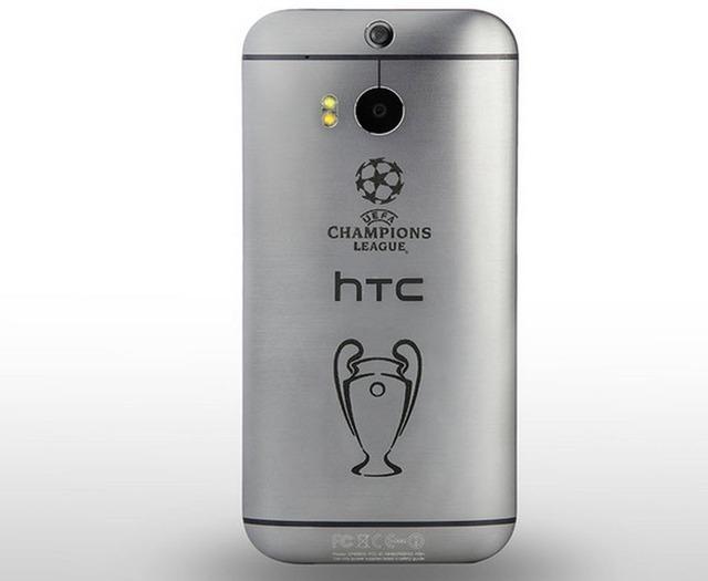 Phiên bản HTC One M8 đặc biệt với hình chiếc cúp UEFA