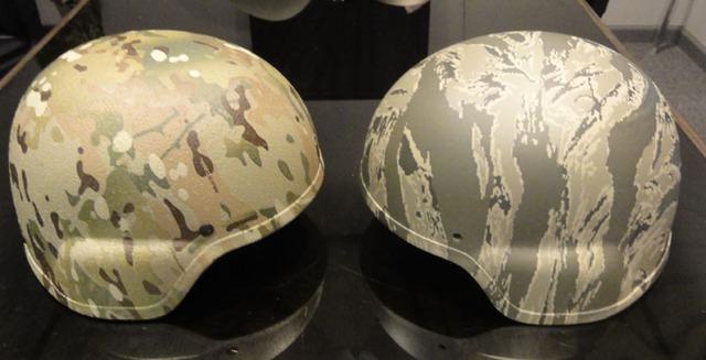 Đồ trong quân đội được trang trí bằng công nghệ sơn phủ Hydrographics