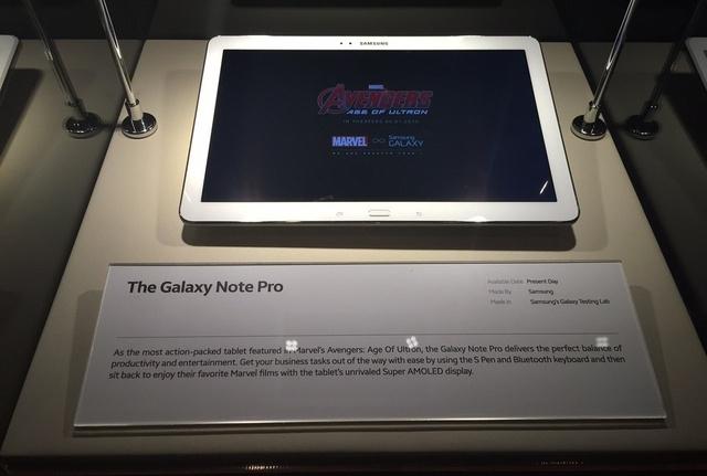 Galaxy Note Pro trưng bày tại triển lãm Night with Marvel