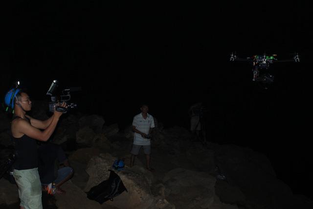 Flyingcam được sử dụng trong quá trình làm phim.