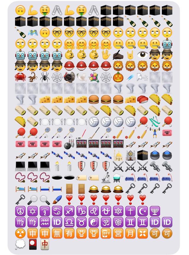 Một số biểu tượng emoji mới được cập nhật trên iOS 9.1