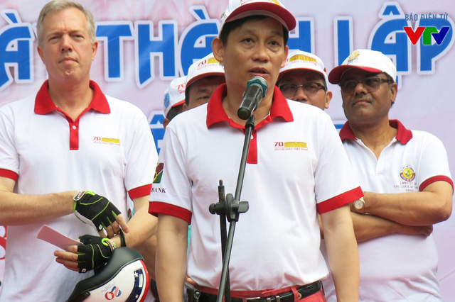Thứ trưởng Bộ Ngoại giao Lê Hoài Trung phát biểu khởi động chương trình