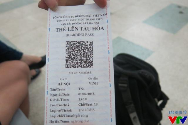 Thẻ lên tàu hỏa thay thế cho vé tàu trước đây