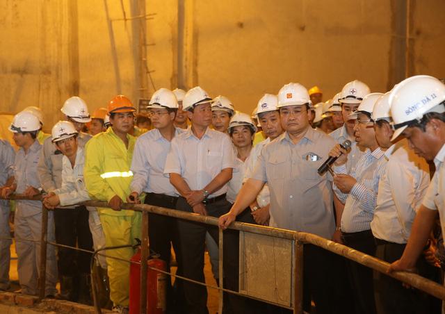 Phó Thủ tướng Hoàng Trung Hải thăm Dự án Thủy điện Huội Quảng. Ảnh: VGP/Nguyên Linh