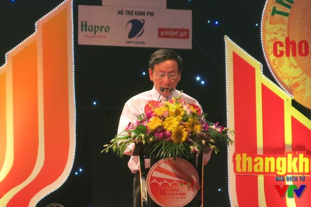 Ông Lê Hồng Thăng - Giám đốc Sở Công Thương phát biểu khai mạc