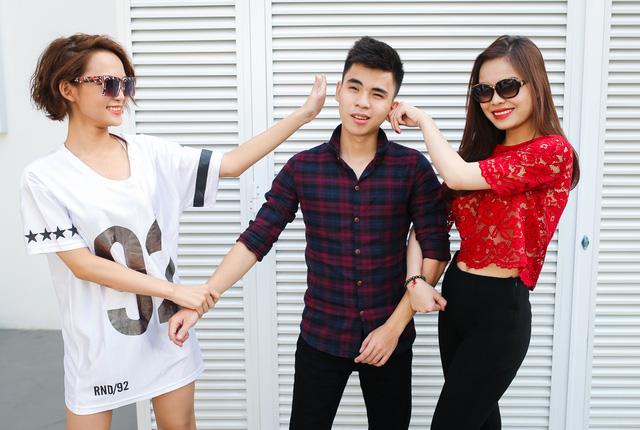 Nhóm Giang Hồng Ngọc với hai thành viên DJ King Lady và nhà sản xuất Duy Anh