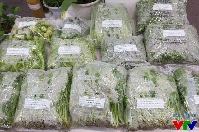 Sản phẩm rau hữu cơ của nhóm sản xuất Thanh Thủy, huyện Duy Tiên, Hà Nam