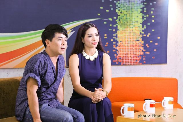 Nhà báo Chu Minh Vũ và người mẫu Thúy Hằng