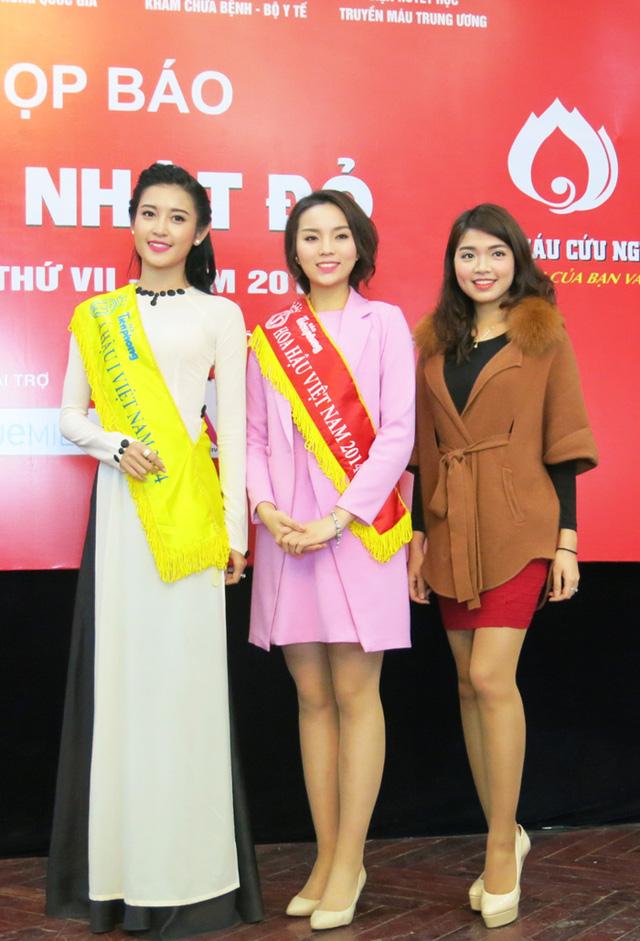 Bên cạnh đó, Đỗ Thùy Dương - người đẹp dự thi Hoa hậu Việt Nam 2014 cùng Kỳ Duyên và Huyền My - cũng góp mặt trong sự kiện nhân đạo này.