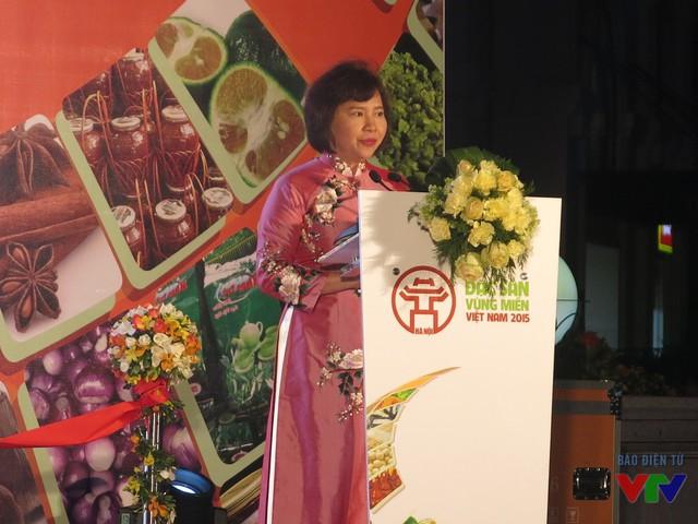 Thứ trưởng Bộ Công thương - Hồ Thị Kim Thoa phát biểu khai mạc.