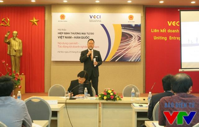 Ông Hongsun – Tổng thư ký Phòng thương mại Hàn Quốc tại Việt Nam.