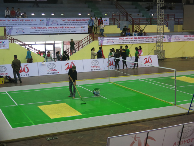 Sân thi đấu được sửa lại để đảm bảo chất lượng thi đấu tốt nhất