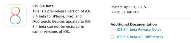 iOS 8.4 phiên bản beta