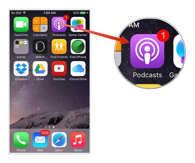 Biểu tượng Podcasts mới