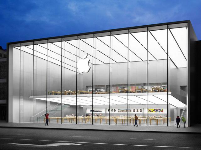 Toàn cảnh bên ngoài cửa hàng mới khai trương của Apple tại Trung Quốc