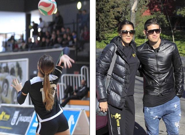 Hai vợ chồng James quả là xứng đôi vừa lứa trong giới thể thao.