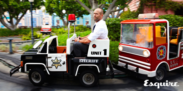 Jason Statham thử sức với vai hài trong phim Spy (ảnh: Esquire)