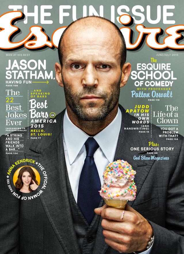 Jason Statham xuất hiện trên bìa tạp chí Esquire số mới.