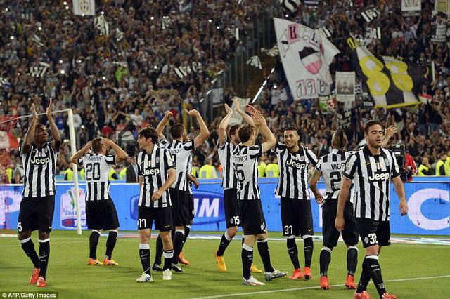 Juve cần tới 120 phút mới hạ được Lazio trong trận chung kết Coppa Italia.