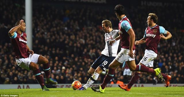 Kane đã có 8 bàn sau 5 trận cho Spurs.