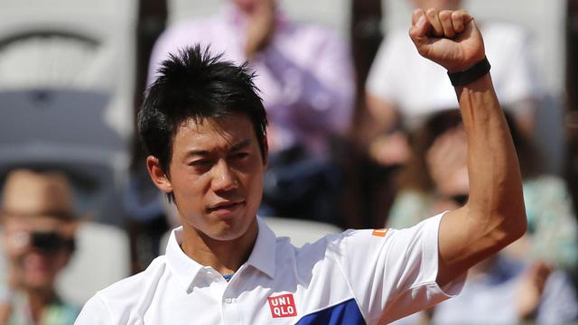 Kei Nishikori giành quyền vào vòng 3 Pháp mở rộng