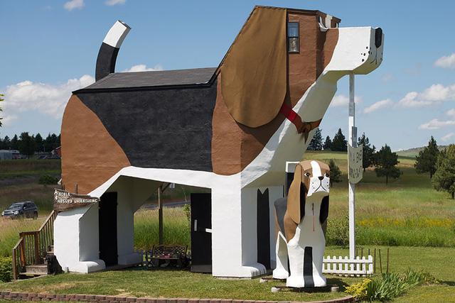 Khách sạn Dog Bark Park ở Idaho (Mỹ) có hình chó ngộ nghĩnh.