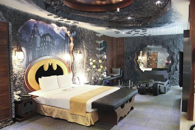 Khách sạn Hang Dơi ở Đài Loan (Trung Quốc) đặc biệt thu hút các fan của phim Người Dơi.